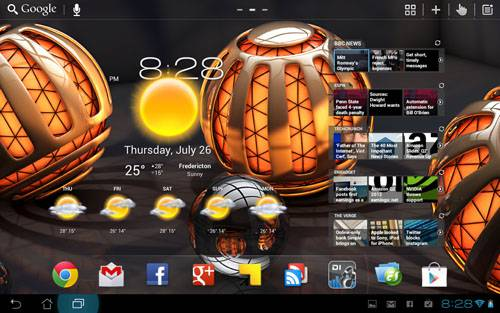 Rob's Android Home Screen