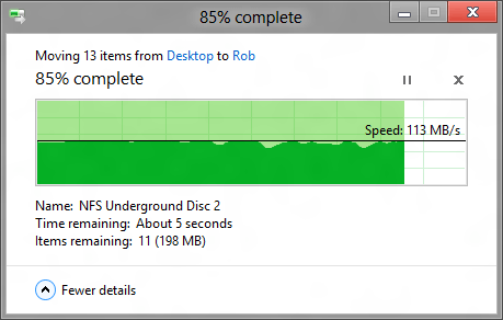 Windows 8 - Copy Dialog