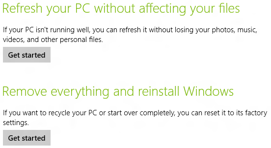 Windows 8 - Refreshing Your PC