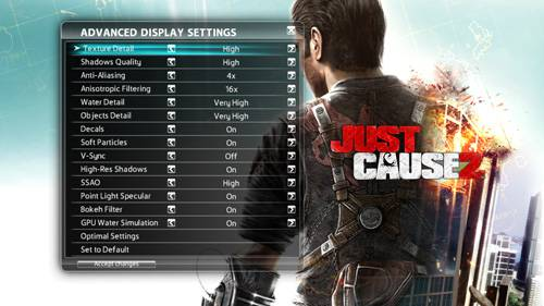 Just Cause 2 - Settings