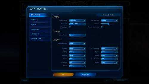 StarCraft II - Settings