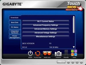 GIGABYTE TouchBIOS