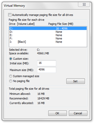 SSD Optimization - Disabling Hibernation and Pagefile