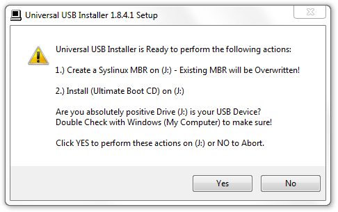 Creating Bootable Linux Thumb Drives with Universal USB Installer