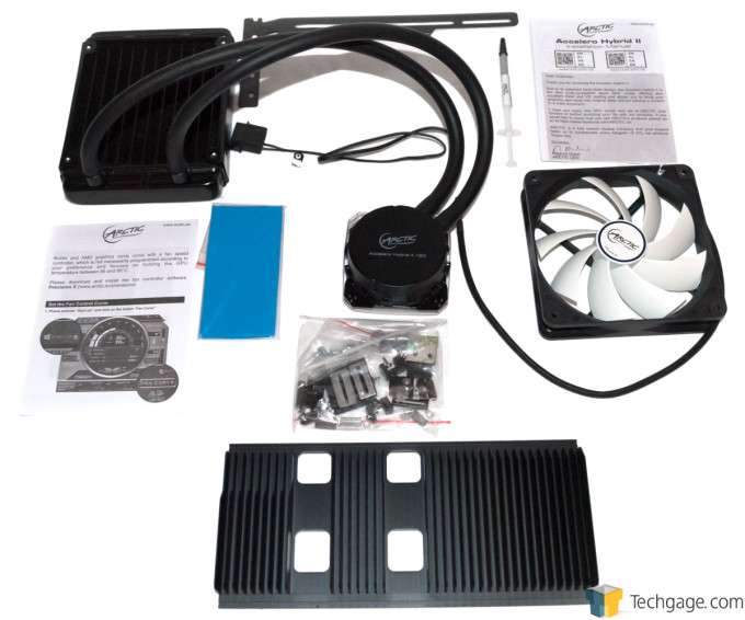 Arctic Accelero Hybrid II GPU Cooler - Package Contents
