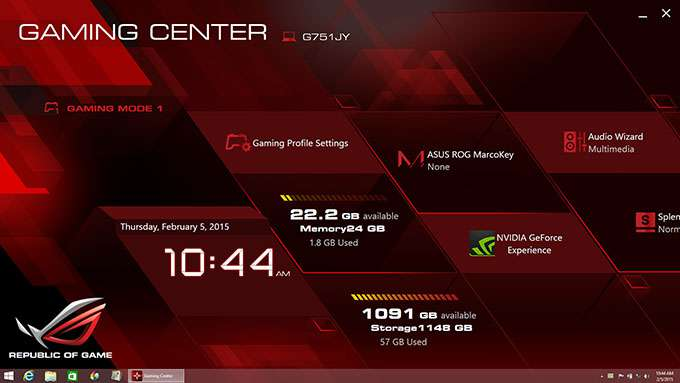 ASUS ROG G751JY Gaming Notebook - ROG Gaming Center