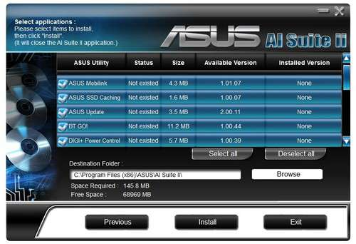 Asus P9X79 AI Suite II Drivers for Windows 7