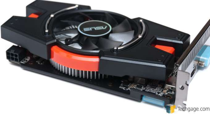 ASUS Radeon R7 250X - Power Connector & CrossFire Bridge