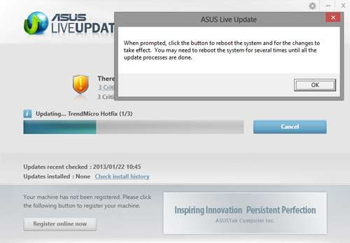 ASUS X202E - ASUS Live Update