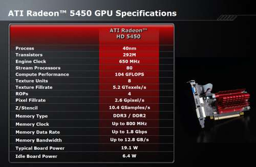 ATI Radeon HD 5450 - Official Specs
