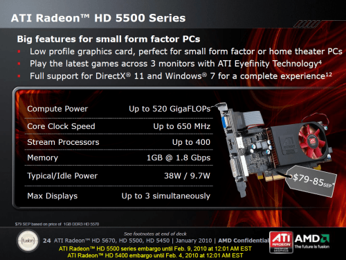 ATI Radeon HD 5570 - Official Specs