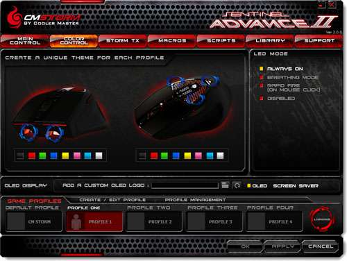 CM Storm Sentinel Advance II Gaming Mouse Software