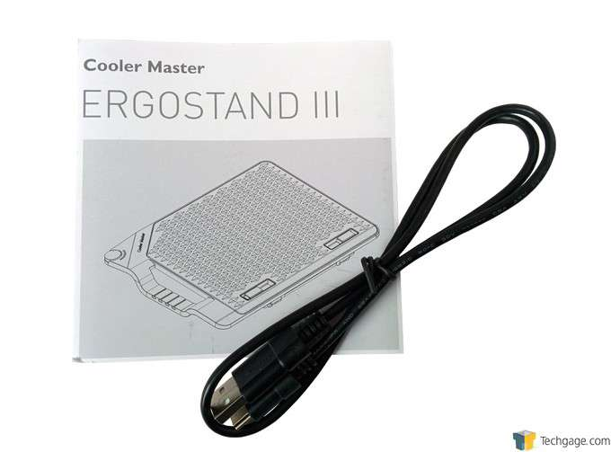 Cooler Master Ergostand III - Power Cord & Instructions