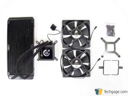 Corsair H100 Self-Contained Liquid CPU Cooler