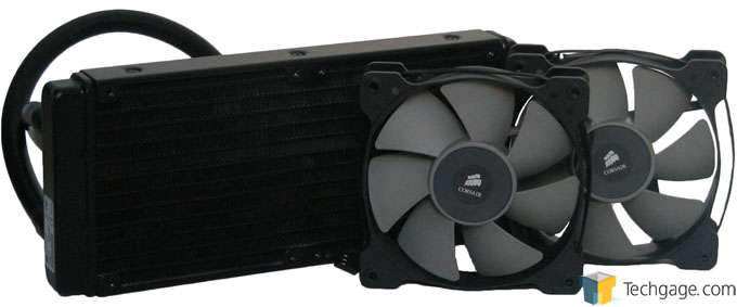 Corsair H100i Liquid CPU Cooler - Radiator and Fans