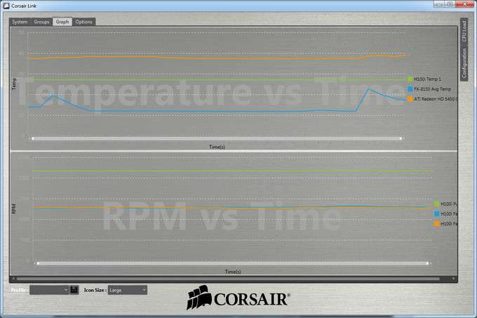 Corsair H100i Liquid CPU Cooler - Software Temperature Log