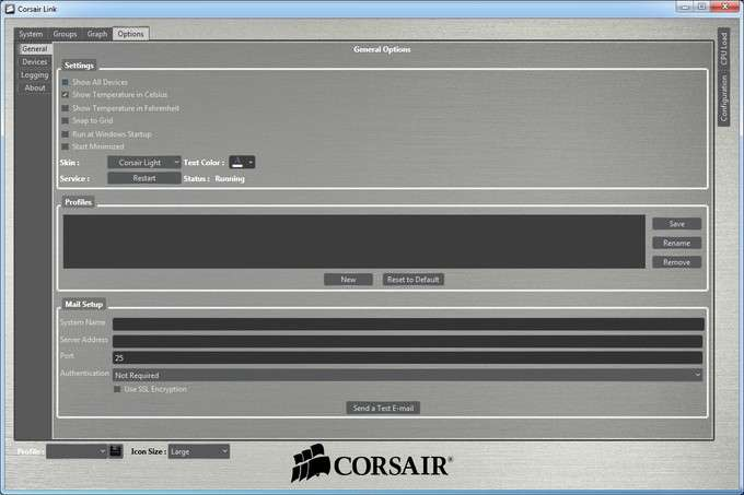 Corsair H100i Liquid CPU Cooler - Software Settings