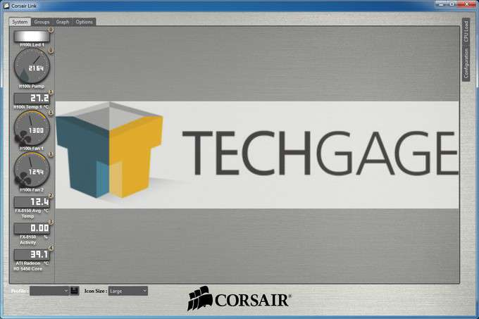Corsair H100i Liquid CPU Cooler - Software Corsair Link