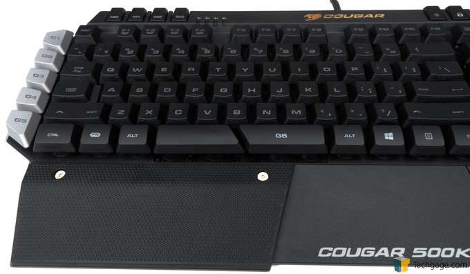 COUGAR 500K Gaming Keyboard - Front Layout
