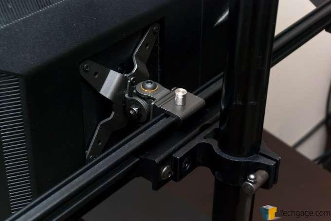 Ergotech Freedom Quad Desk Stand [100-D28-B13] - Center display, standard pivot