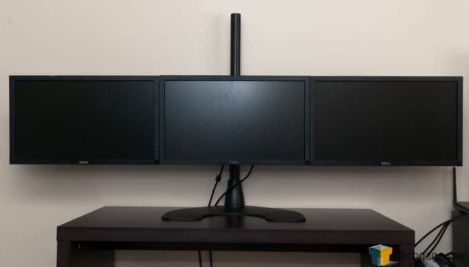 Ergotech Freedom Quad Desk Stand [100-D28-B13] - Finished 3x1