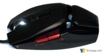 EXGA X10 TORQ Gaming Mouse Left Side