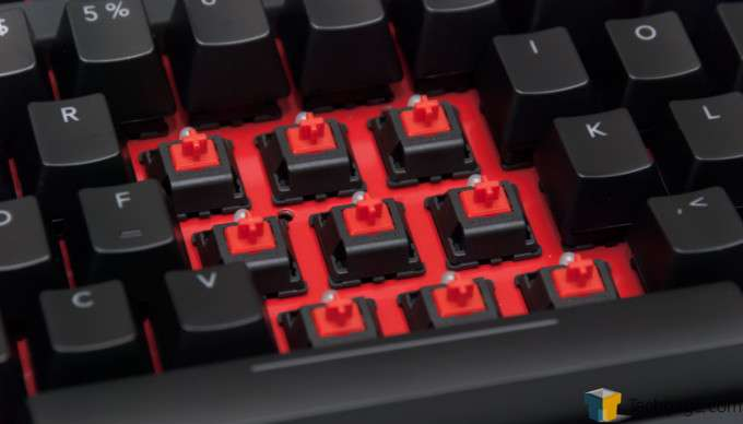 Func KB-460 Gaming Mechanical Keyboard - CHERRY MX Red Switches