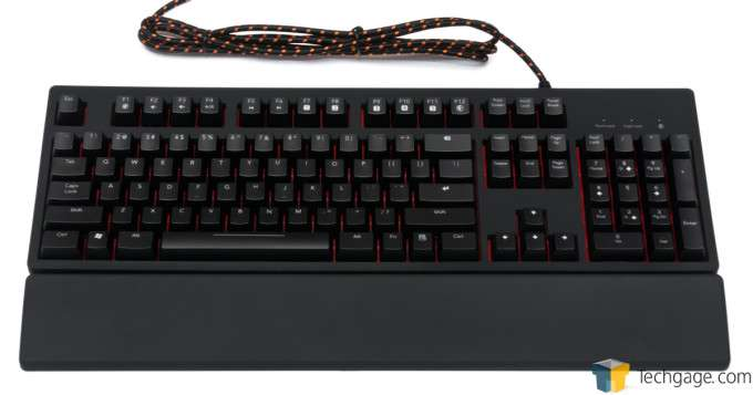 Func KB-460 Gaming Mechanical Keyboard - Overview with Palmrest