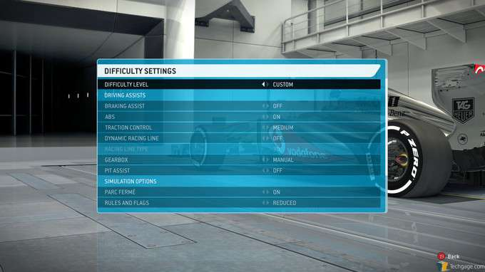 F1 2013 Classic Edition - Difficulty Settings