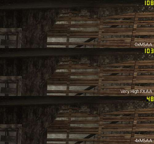 Max Payne 3 Anti-Aliasing Comparison