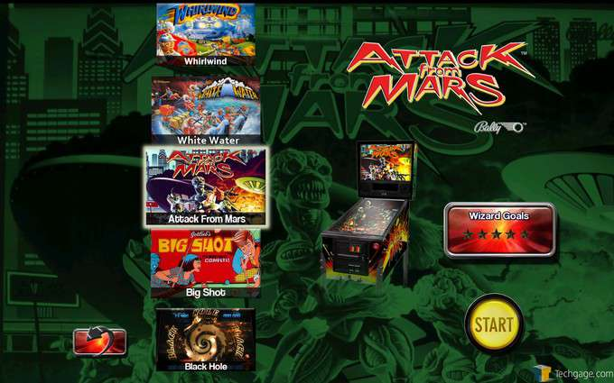 The Pinball Arcade - Table Selection