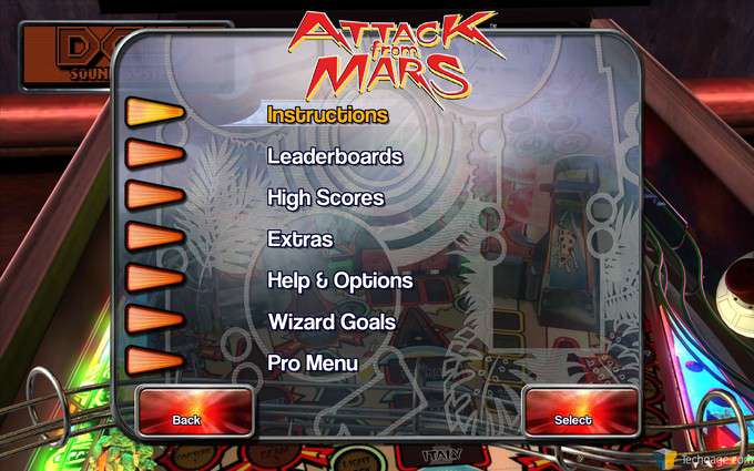 The Pinball Arcade - Table Menu