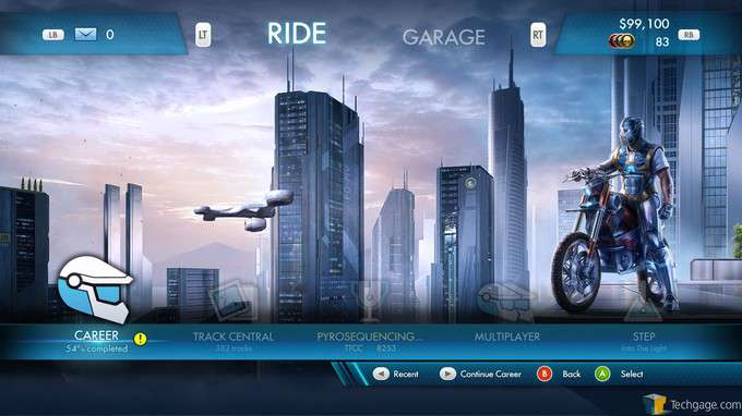 Trials Fusion - Main Menu