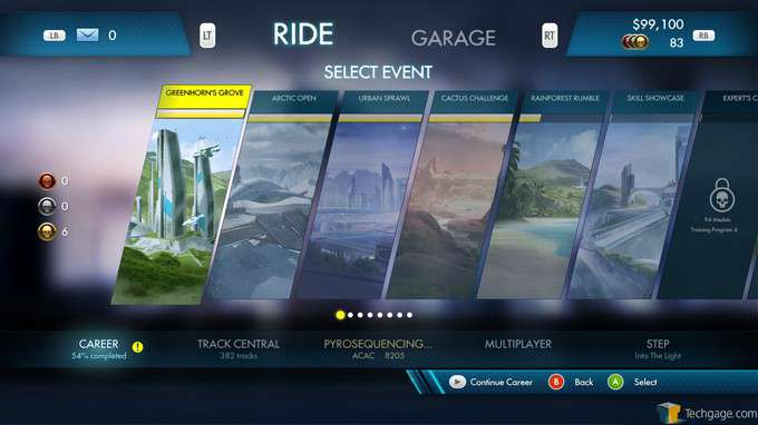 Trials Fusion - Event Selection Screen