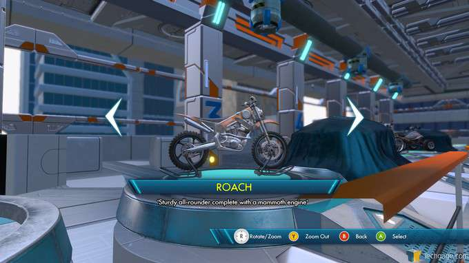 Trials Fusion - Bike Selection Screen