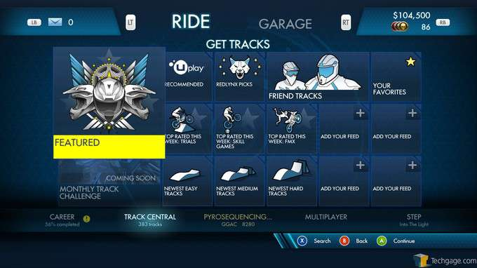 Trials Fusion - User-made Event Selection