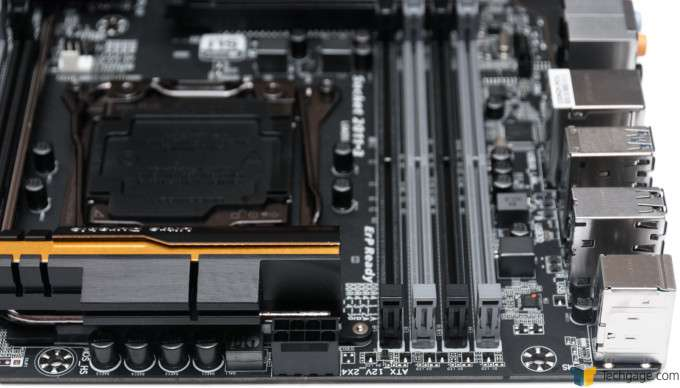 GIGABYTE X99-UD4 Motherboard - Top Of Board
