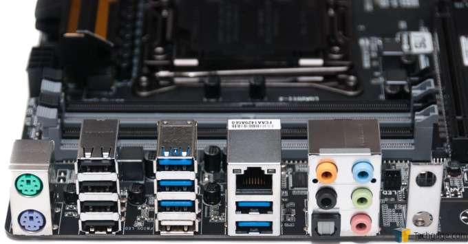 GIGABYTE X99-UD4 Motherboard - Back I/O Panel