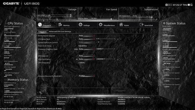 GIGABYTE Z97X-Gaming G1 WIFI-BK - Tweaking UEFI