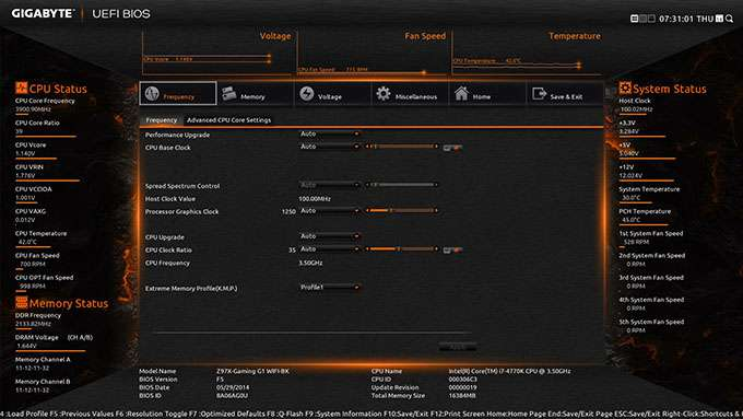 GIGABYTE Z97X-Gaming G1 WIFI-BK - Alternate Theme