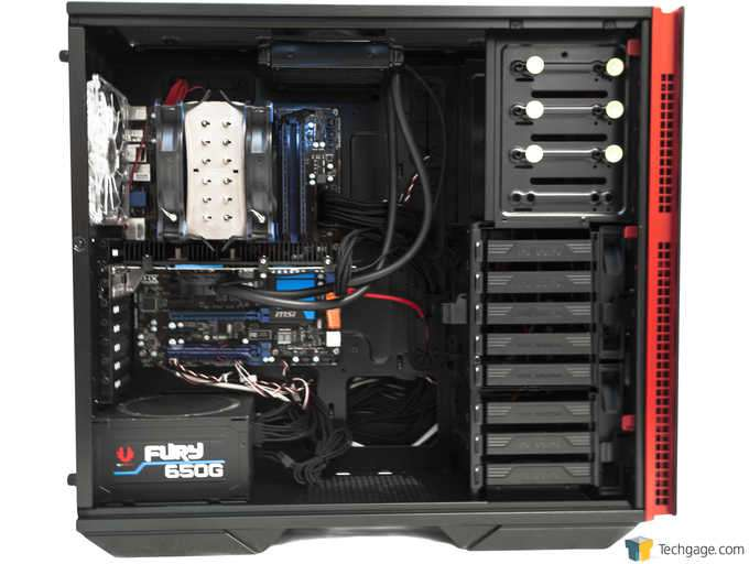 In Win 707 Full-tower Chassis - Test System Installed