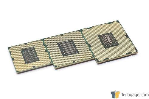 Intel Core i7-2600K, i7-3960X and i7-990X