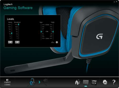 Logitech G430 Gaming Headset - Software