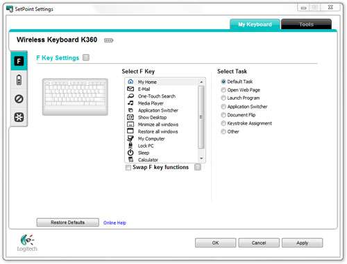 Logitech Wireless Keyboard K360 Review – Techgage