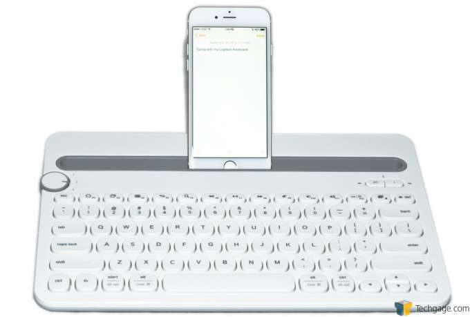 Logitech K480 Bluetooth Keyboard - Phone Docked