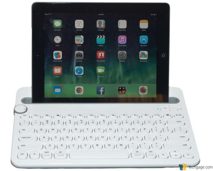 Logitech K480 Bluetooth Keyboard - Tablet Docked
