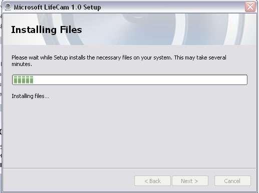 Microsoft lifecam dashboard movements