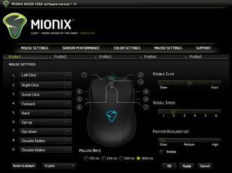 Mionix Avior 7000 Software - Mouse Settings