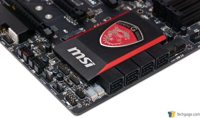 MSI Z97 Gaming 9 AC - Internal Connectors and SATA Ports