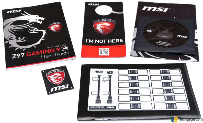MSI Z97 Gaming 9 AC - Included Documentation